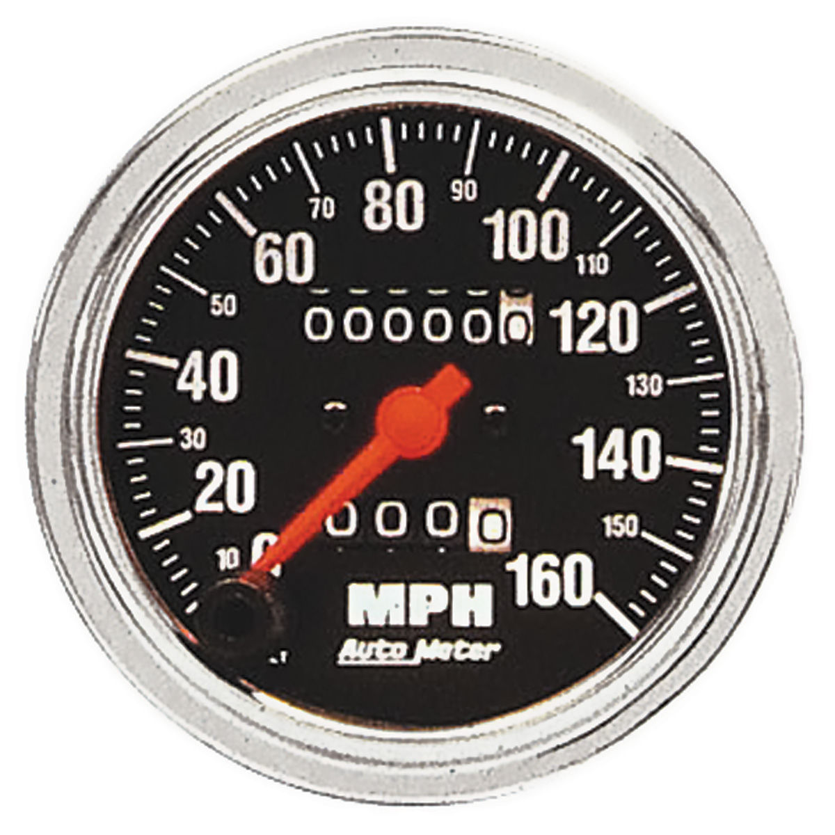 Gauge, Speedometer, Auto Meter, Traditional Chrome, 3-3/8