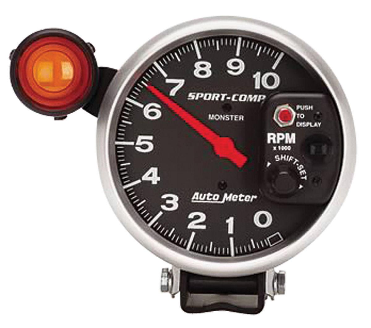 Gauge, Tachometer, Auto Meter, Sport-Comp, 5