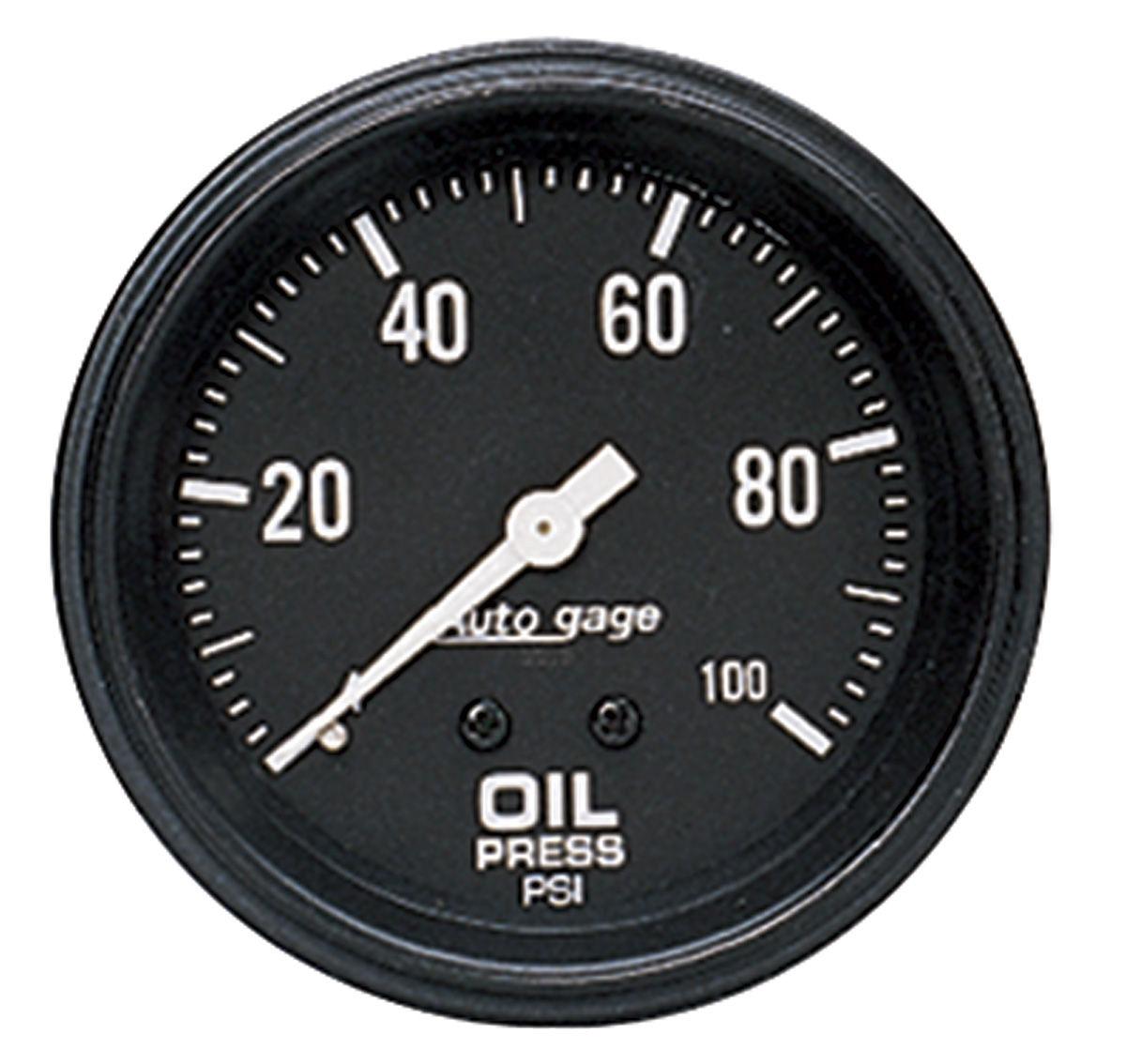 Gauge, Oil Pressure, Auto Meter, Auto Gage, 2-5/8