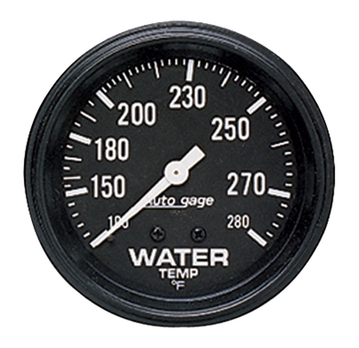 Gauge, Water Temperature, Auto Meter, Auto Gage, 2-5/8