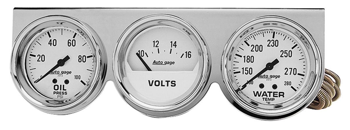 Gauge Set, Auto Meter, Oil/Water/Volt, 2-5/8