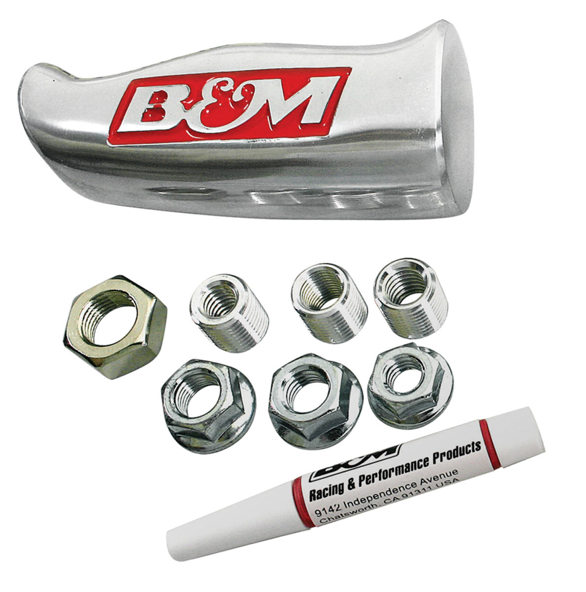 Handle, 61-88 GM, Shifter, B&M, Brushed Aluminum