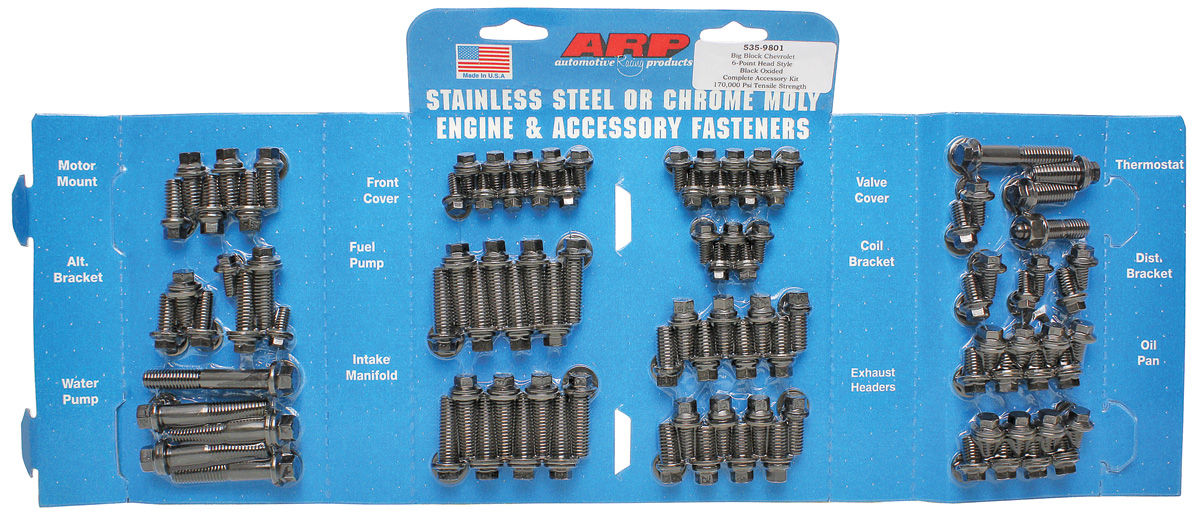 Bolts, Engine Accessory, LS Engine, Stainless, Hex Head