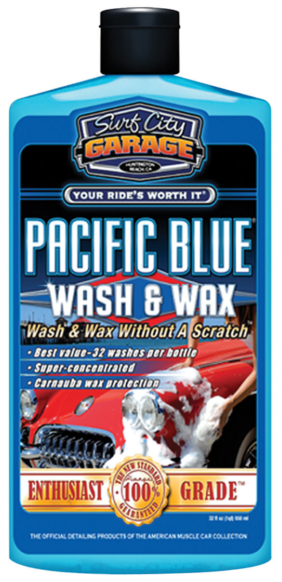Wash & Wax,  Pacific Blue, Surf City Garage, 16OZ