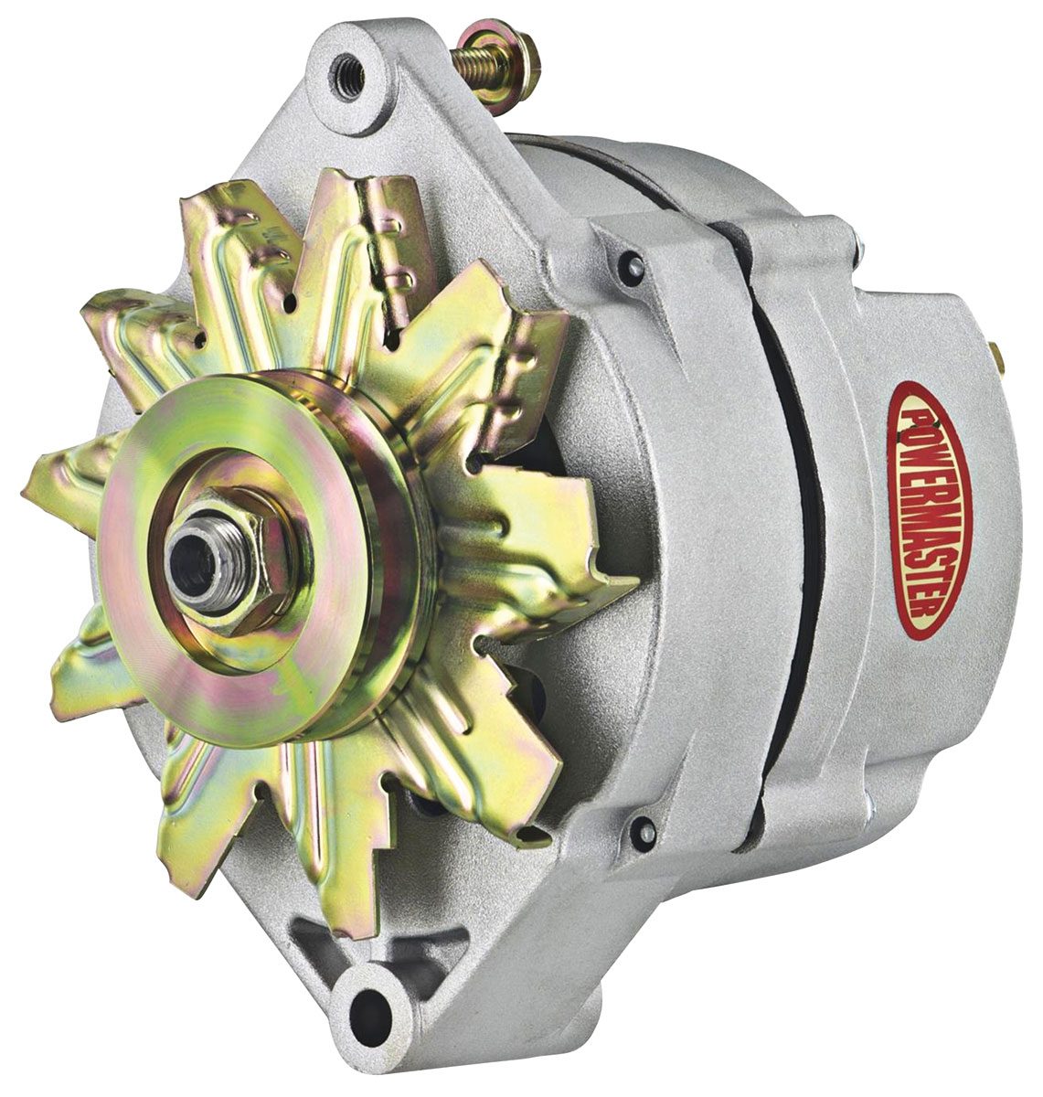 Alternator, Powermaster, 1959-88 GM Cars, 10DN Natural, 70 Amp, 1V, Ext Reg