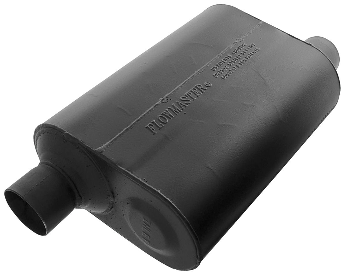 "Muffler, Flowmaster, Super 40 Series, 2-1/2"", Offset Inlet/Outlet"