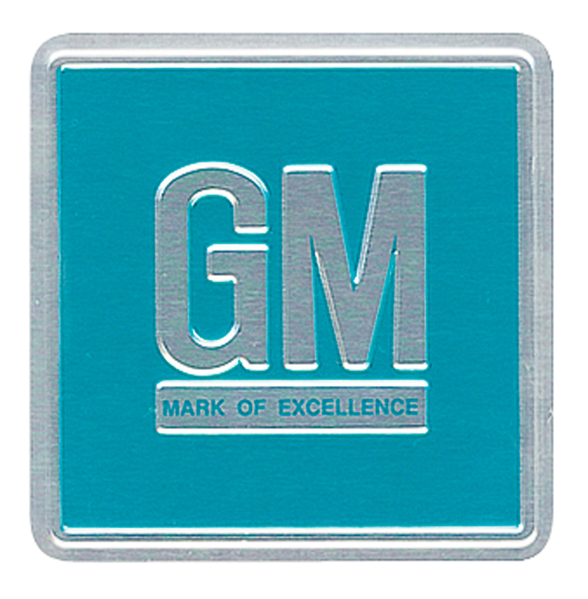 Decal, 66-67 GM, Door Jamb, GM Mark Of Excellence, Turquoise