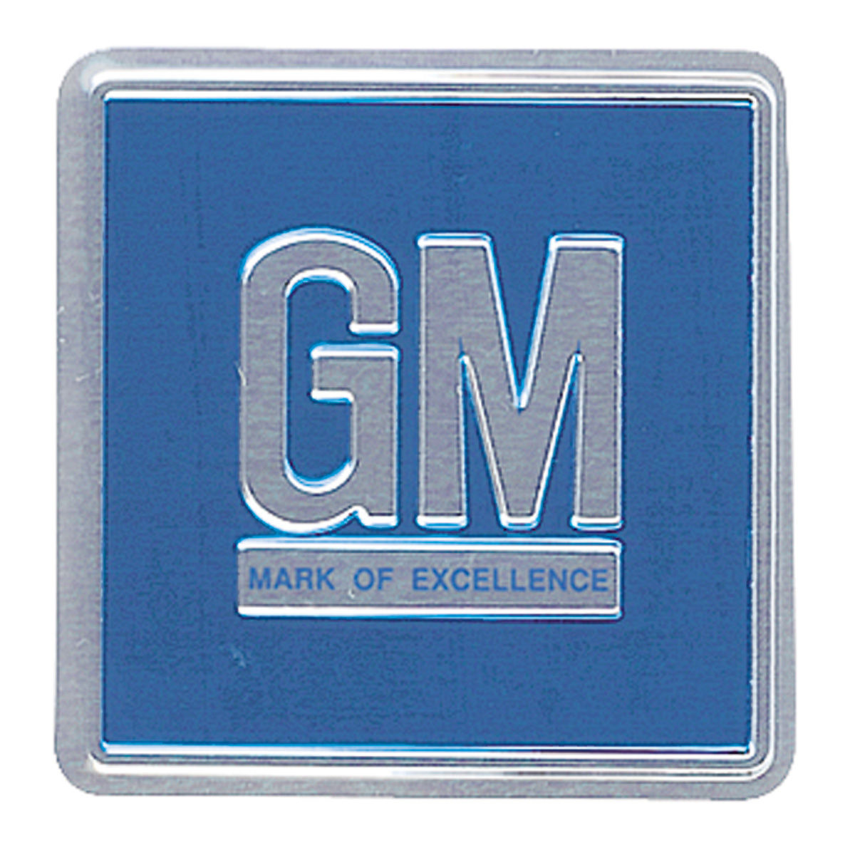 Decal, 68-77 GM, Door Jamb, GM Mark Of Excellence, Blue