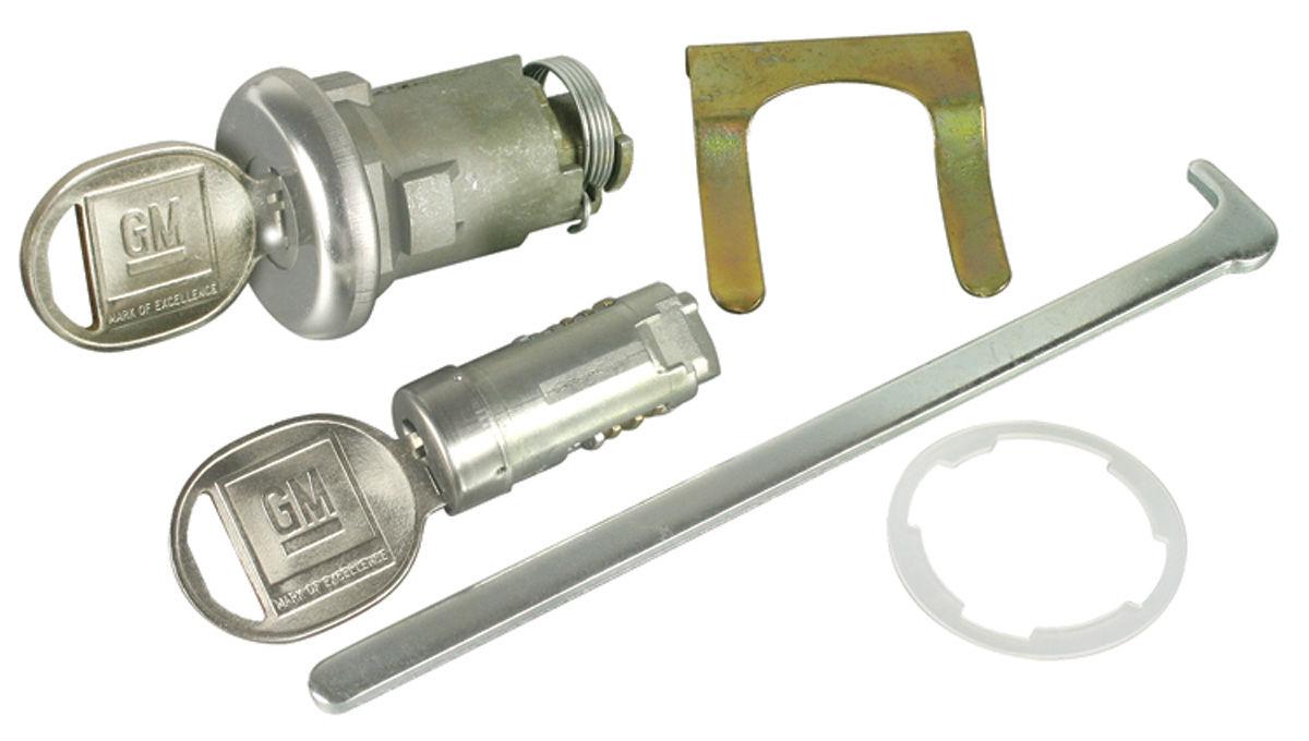 Lock Set, Glove Box/Trunk, 1966 Chevelle/1968-69 Pontiac, w/ Late Keys