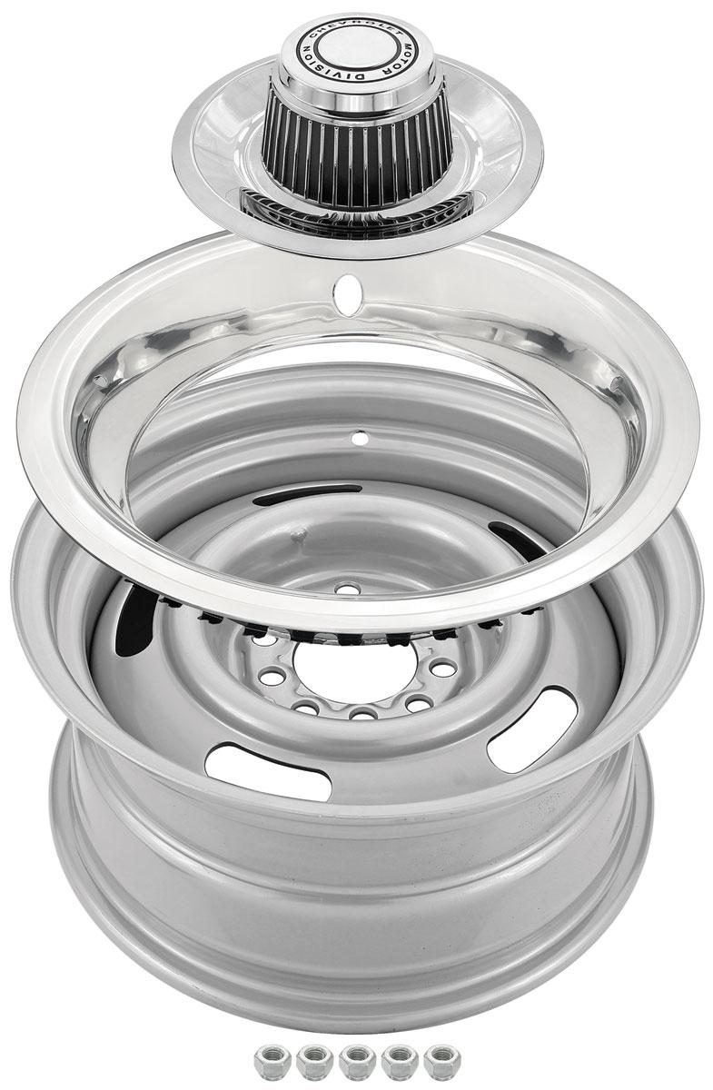 Rally Wheel Kit, 15x7 / 15x8 Wheels, Tall Derby Cap, Steel