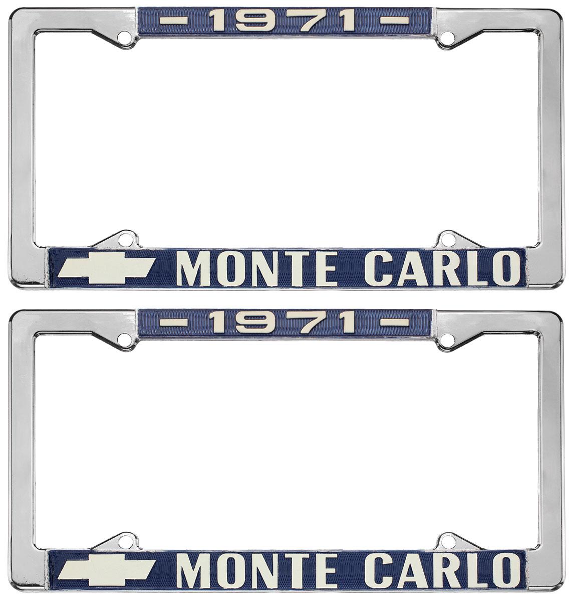 License Plate Frame, 1971 Monte Carlo