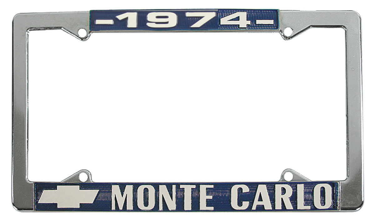 License Plate Frame, 1974 Monte Carlo