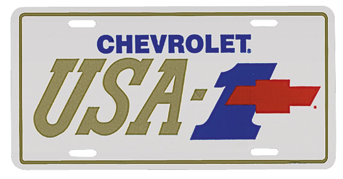 License Plate, USA-1 w/Bowtie
