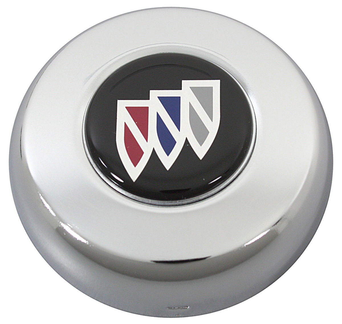 Chrome Horn Cap w/Buick Shield on Black