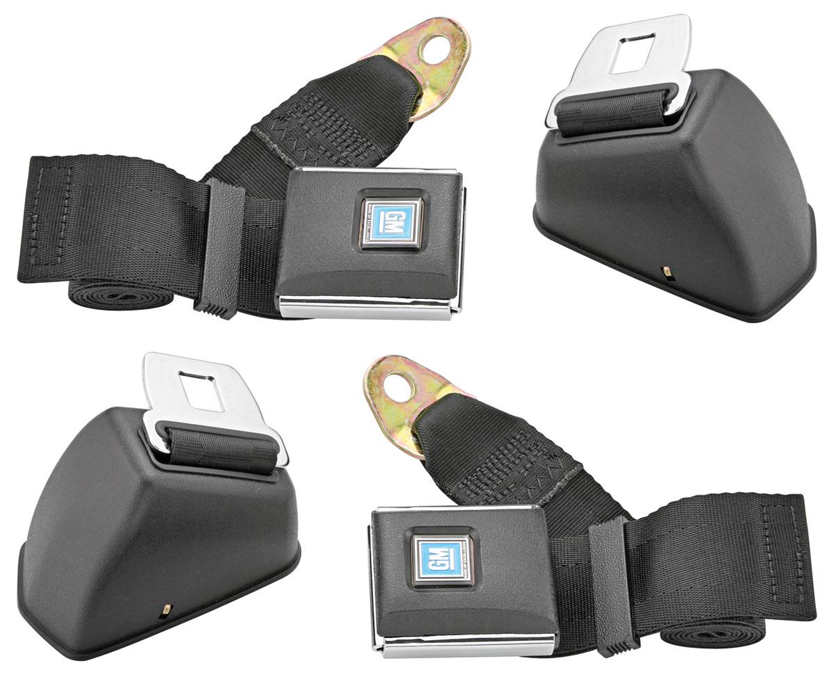 Seat Belts, Retractable, GM Buckle, Plastic Top, Multi Car
