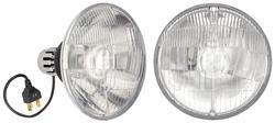 "Headlights, LED, 5-3/4"" Round w/Halo, High/Low Beam"