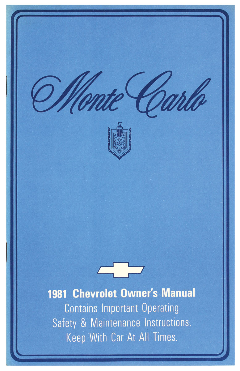 Owners Manual, 1981 Monte Carlo