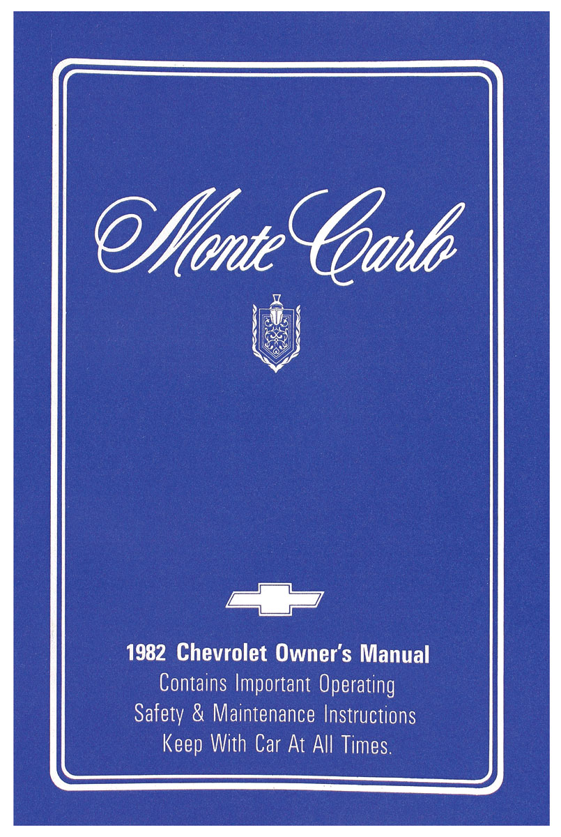 Owners Manual, 1982 Monte Carlo