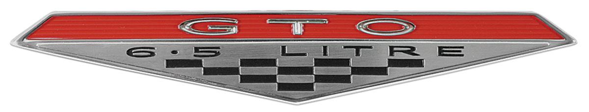 Emblem, Fender, 1964-68 GTO, 6.5 Litre