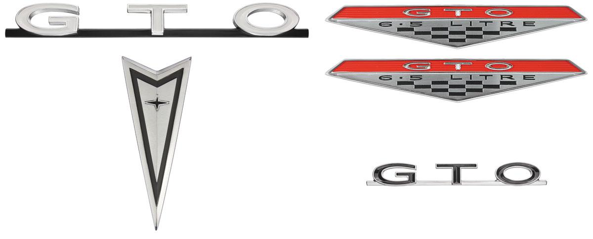 Emblem Kit, 1968 GTO, Exterior, Endura Bumper