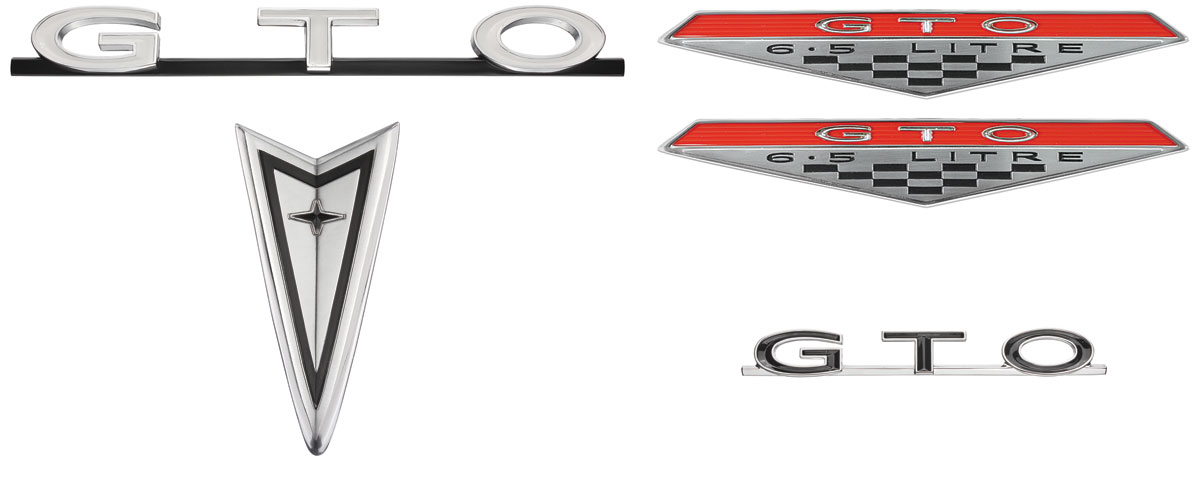 Emblem Kit, 1968 GTO, Exterior, Chrome Bumper