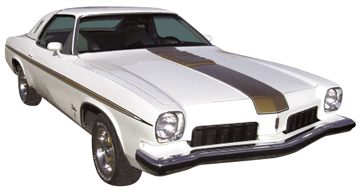 Decal, 73 Cutlass, Body Stripe Kit, Hurst Olds, Gold