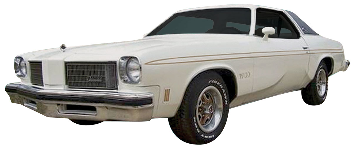 Decal, 75 Cutlass, Body Stripe Kit, Hurst Olds, Gold