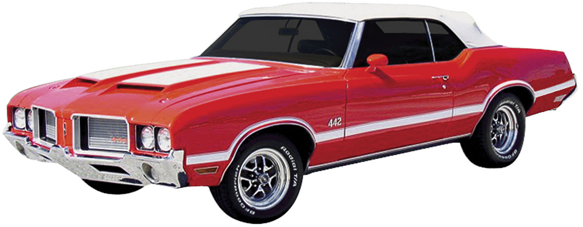 Decal, 70-72 Cutlass, Body Stripe Kit, W30/W31/442, Coupe/ Convertible
