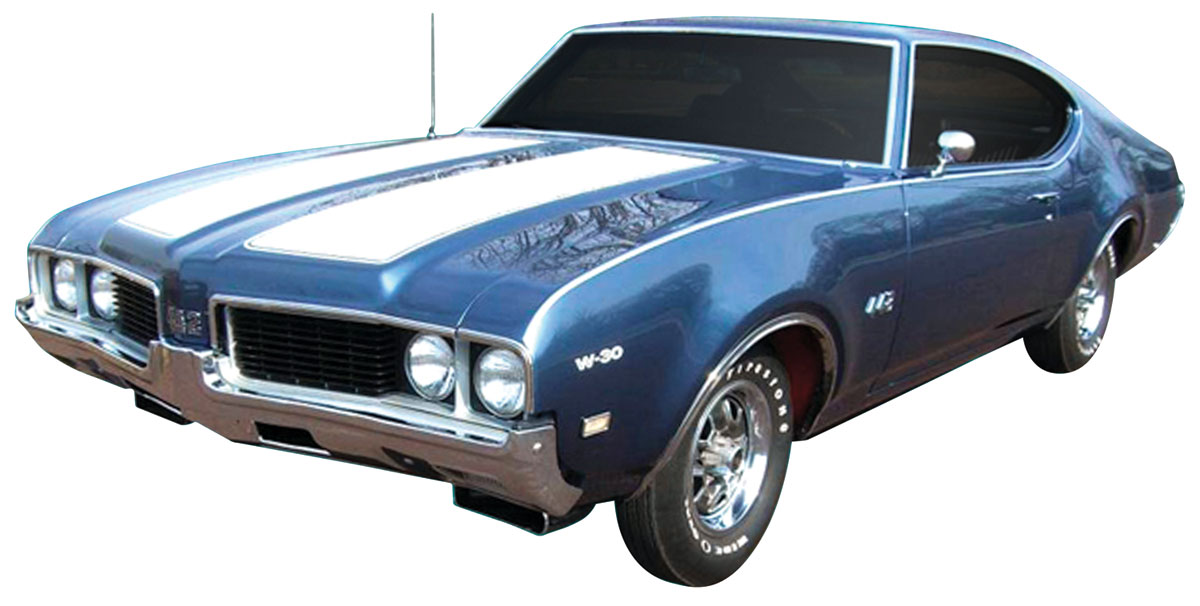 Decal Kit, 1969 Cutlass, W42 Hood/Trunk Stripes