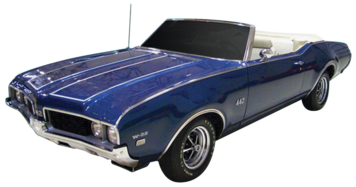 Decal Kit, 1969 Cutlass, Y73 Hood/Trunk Stripes