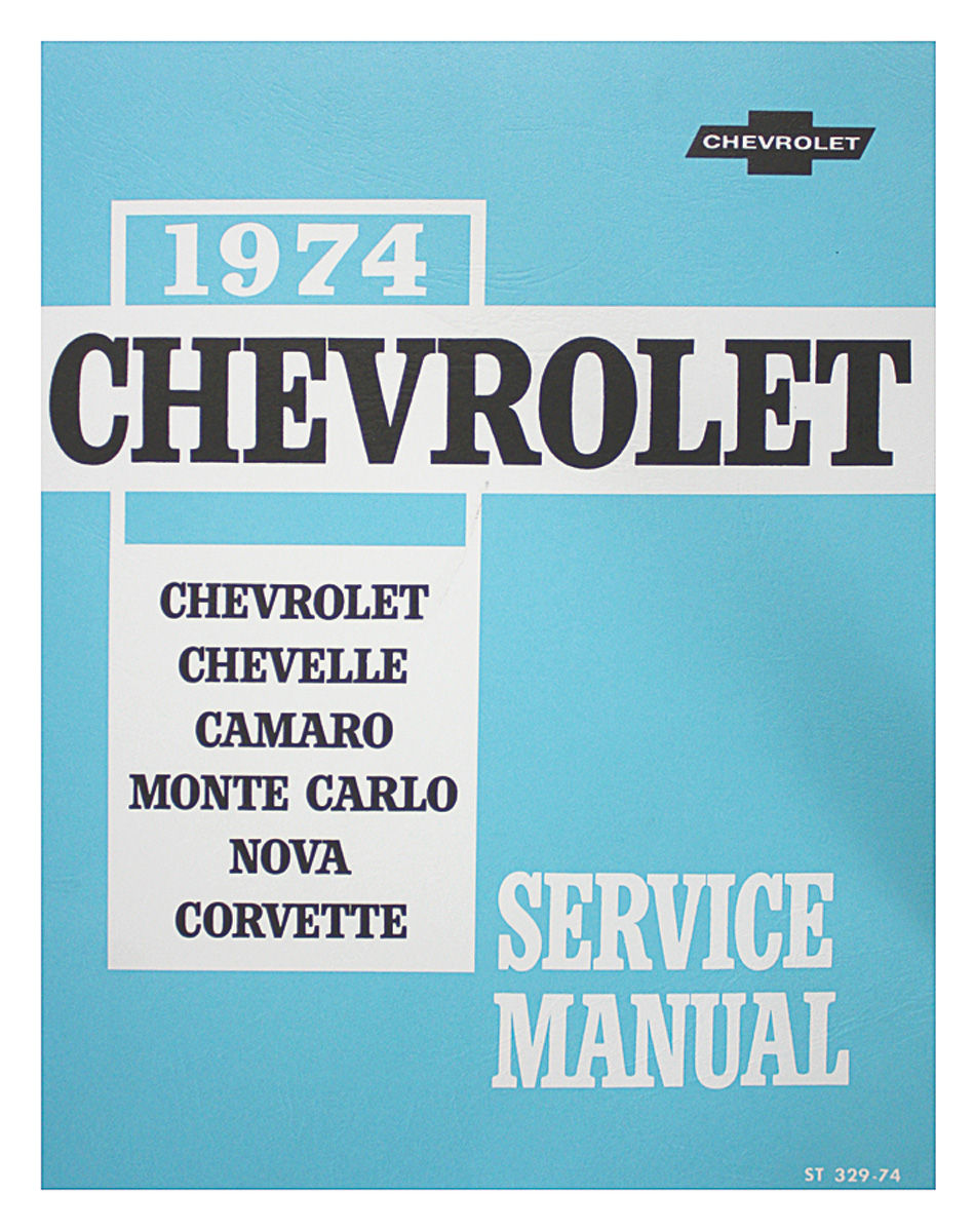 Chassis Service Manual, 1974 Chevrolet