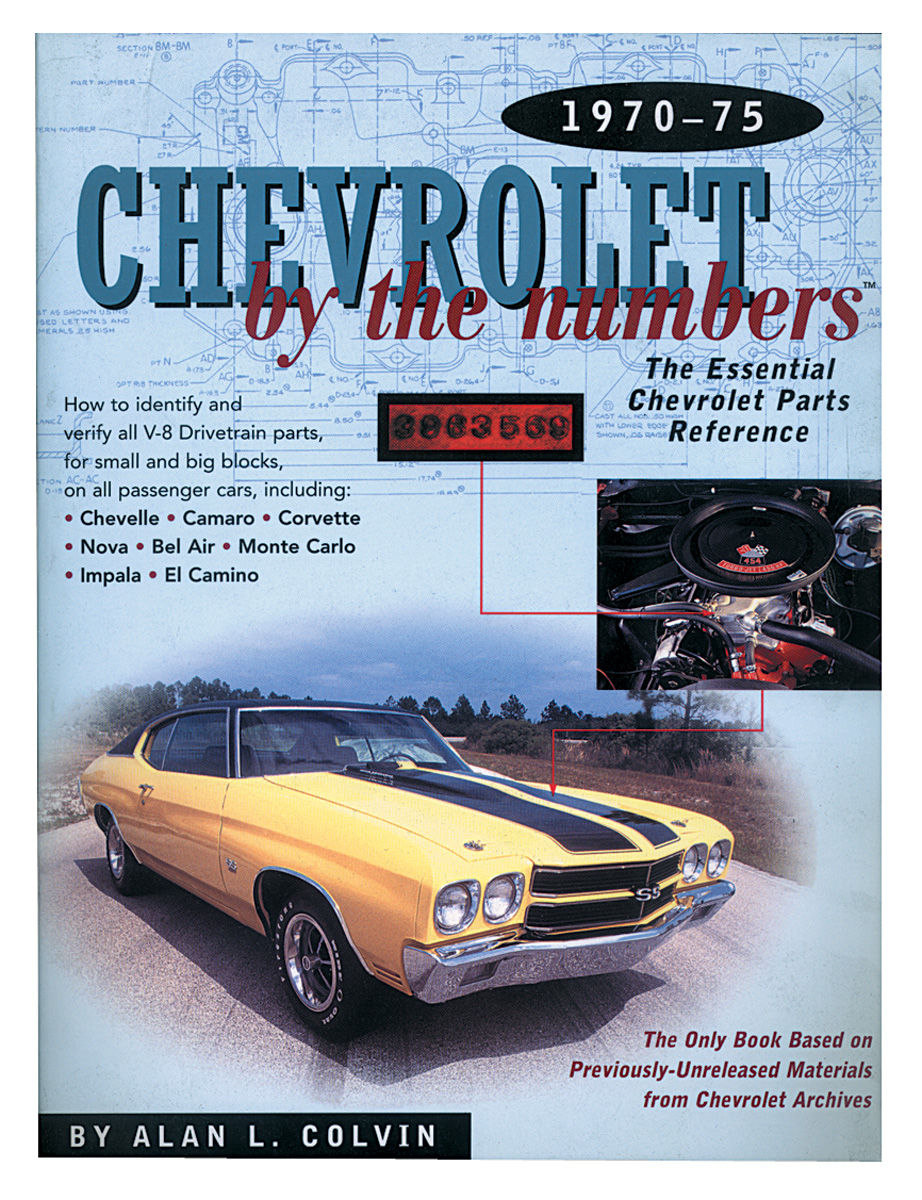 Book, 1970-75 Chevrolet By The Numbers