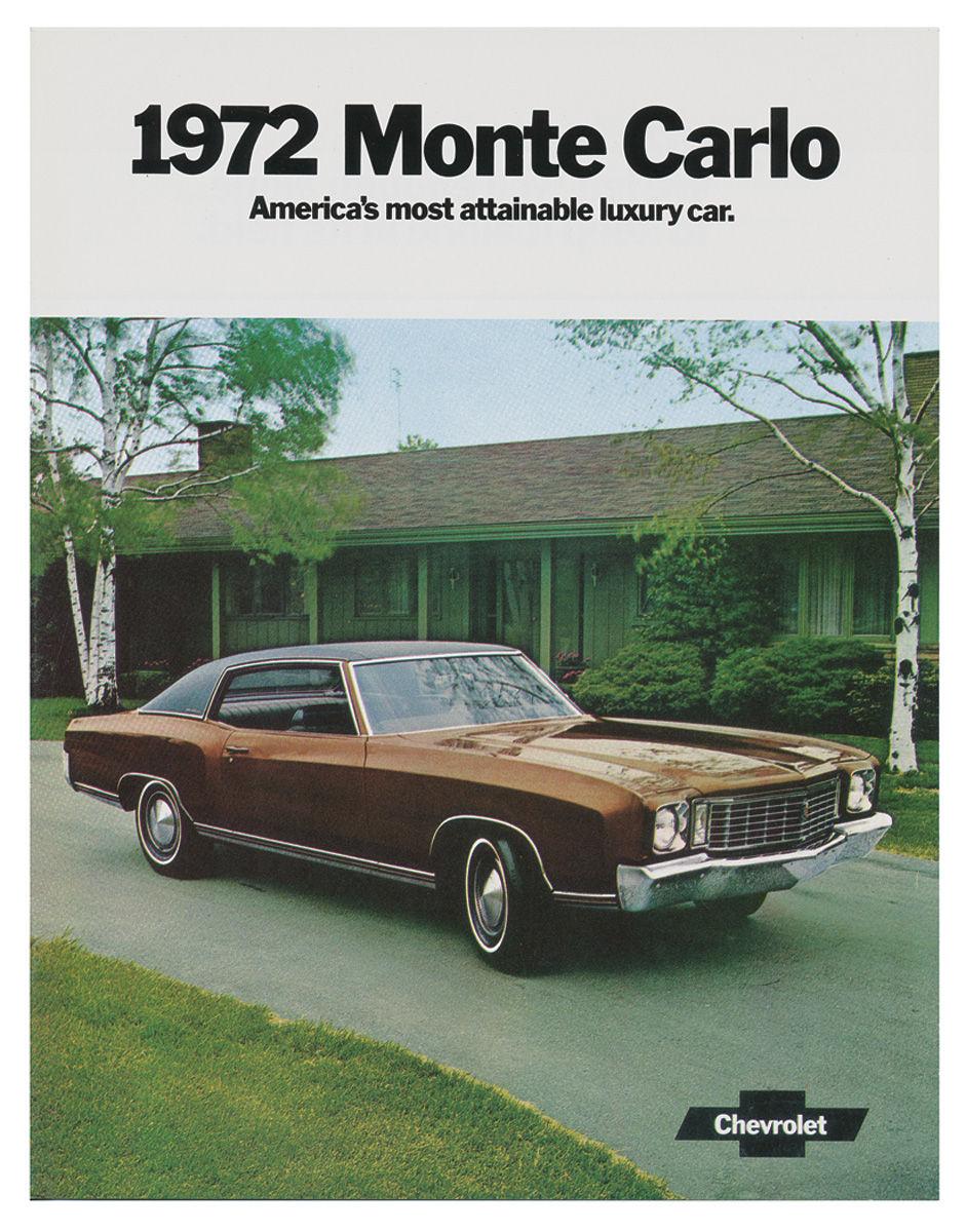 Sales Brochure, 1972 Monte Carlo