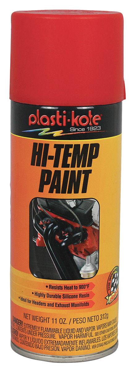 Paint, Hi-Heat, Red, 11-oz.