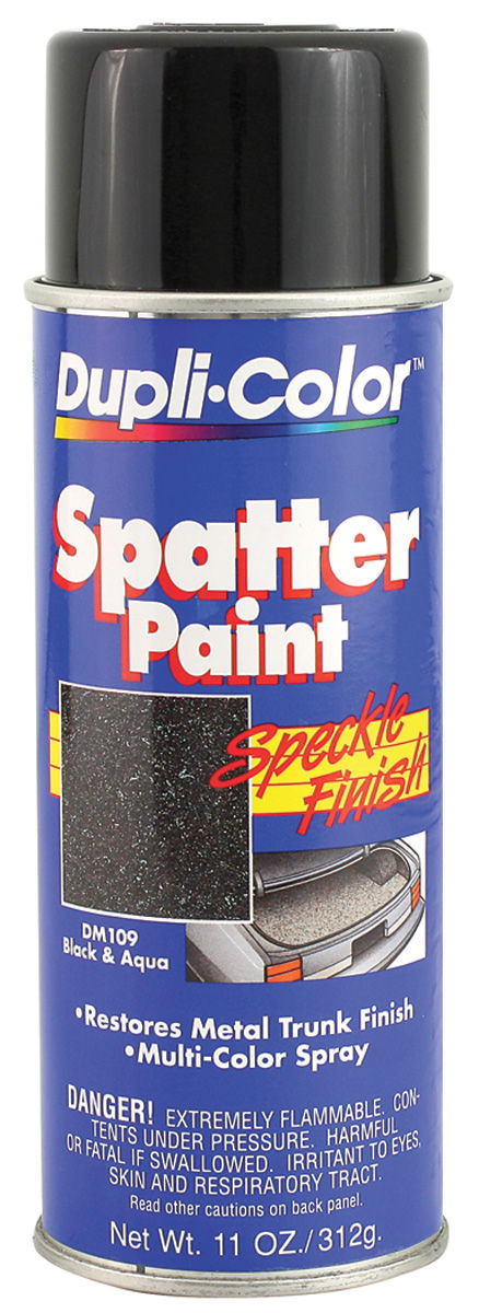 Paint, Trunk Spatter, Black & Aqua, 11-oz.