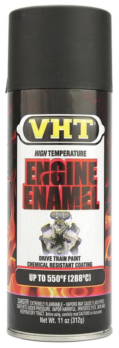 Paint, Hi-Temp Engine, VHT Satin Black, 11-oz.