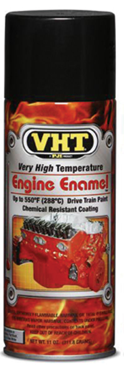 Paint, Hi-Temp Engine, VHT Gloss Black, 11-oz.