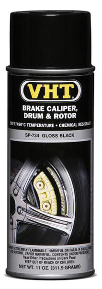 Paint, Caliper/Drum, VHT Gloss Black, 11-oz.