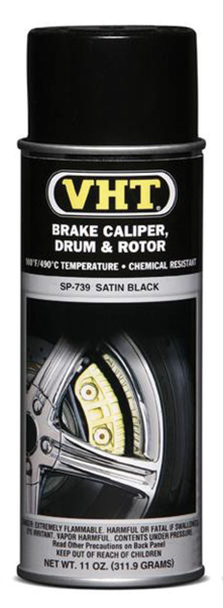 Paint, Caliper/Drum, VHT Satin Black, 11-oz.