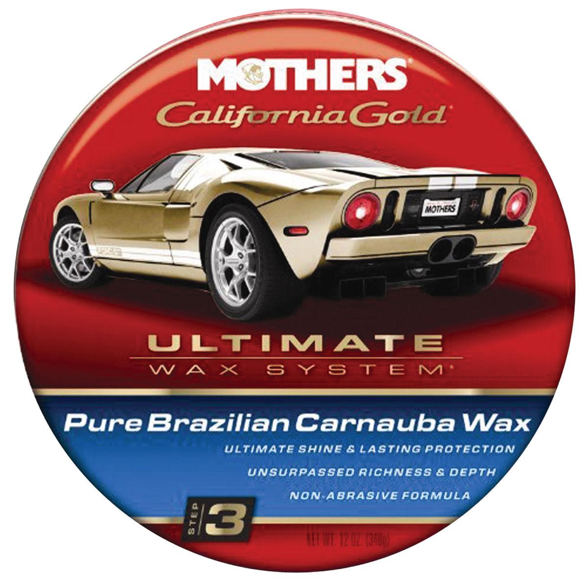 Pure Brazilian Carnauba Wax, Mothers California Gold, 12-oz. paste
