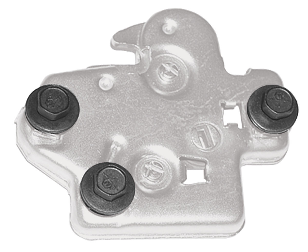 Bolts, Trunk Latch, 1968-72 A-Body, 3pc