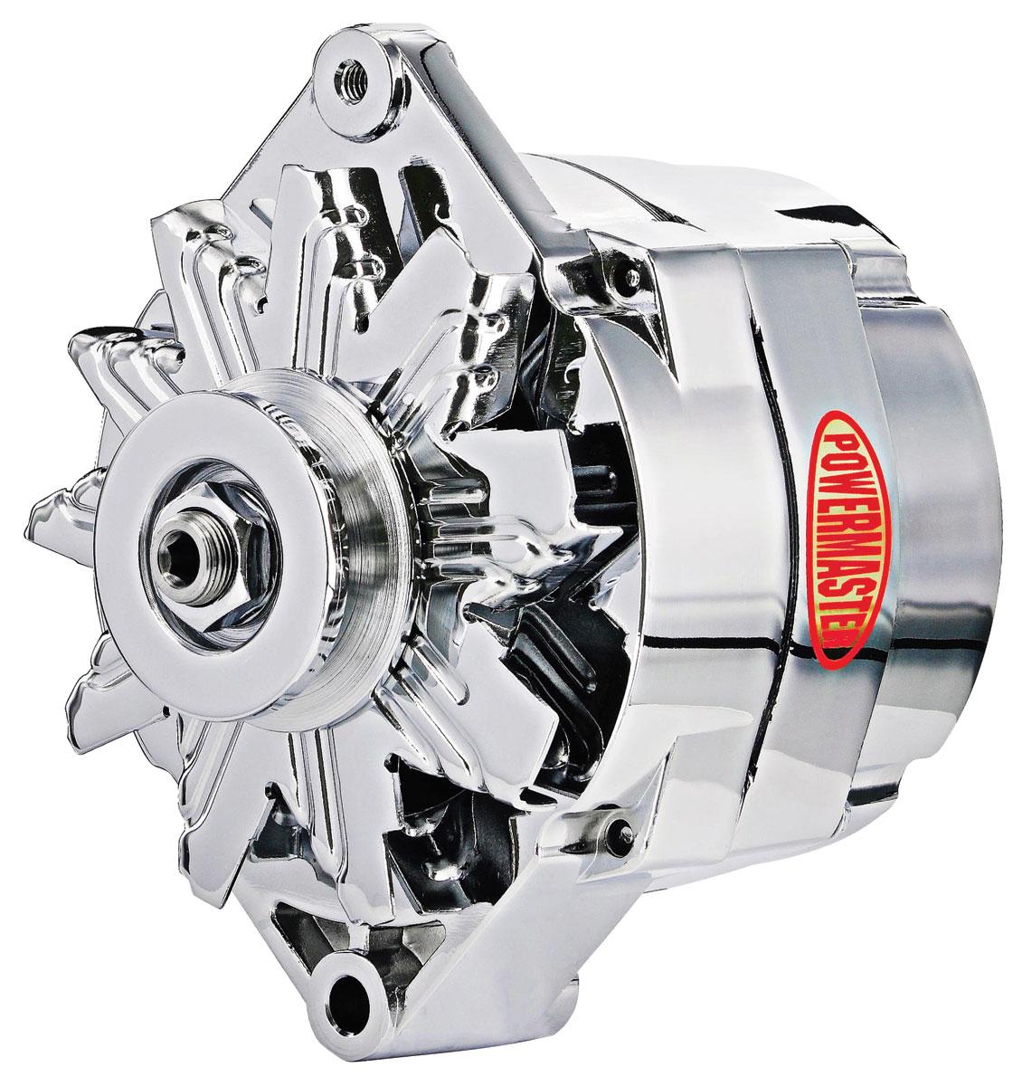 Alternator, Powermaster, 59-88 GM Cars, 12SI Chrome, 150AMP, 1V