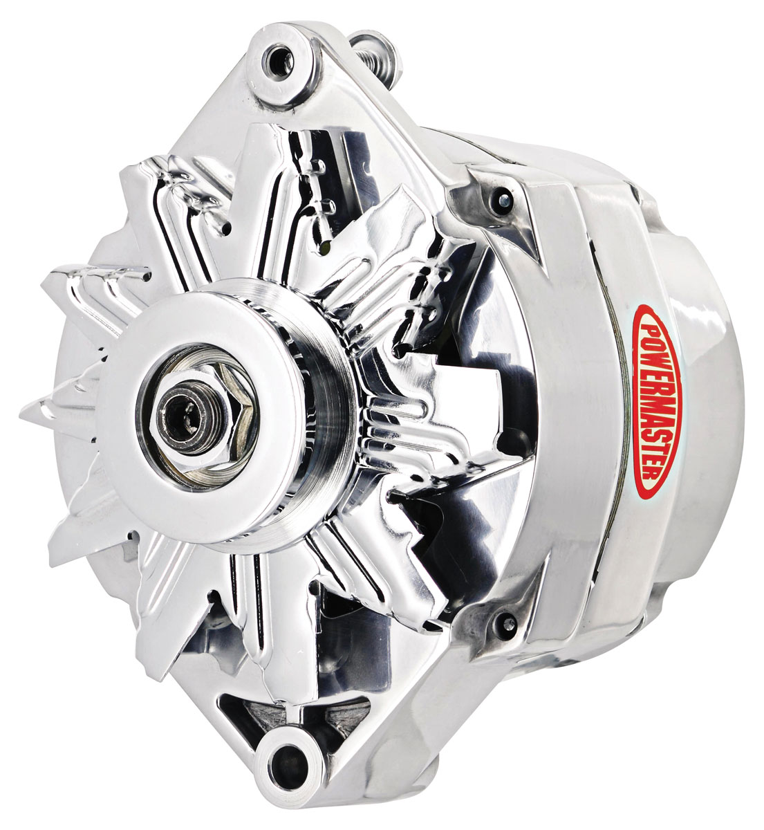 Alternator, Powermaster, 1959-88 GM Cars, 12SI Polished, 100 Amp, 1V