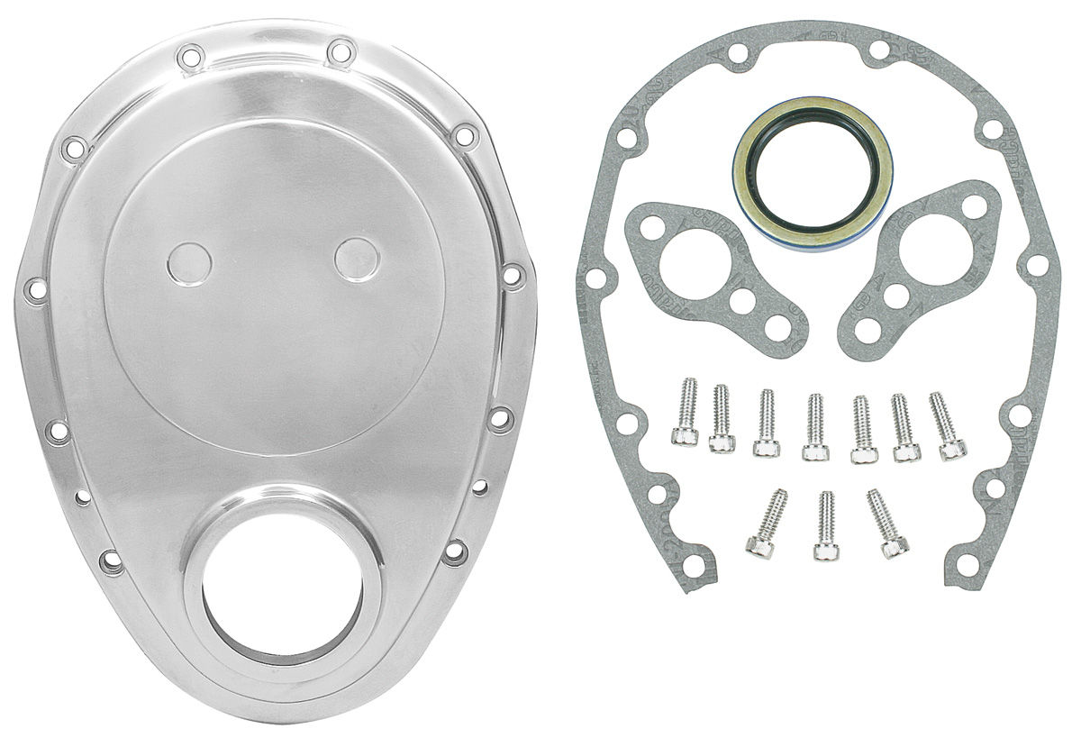 Timing Cover, Aluminum, SB Chevy, Kit