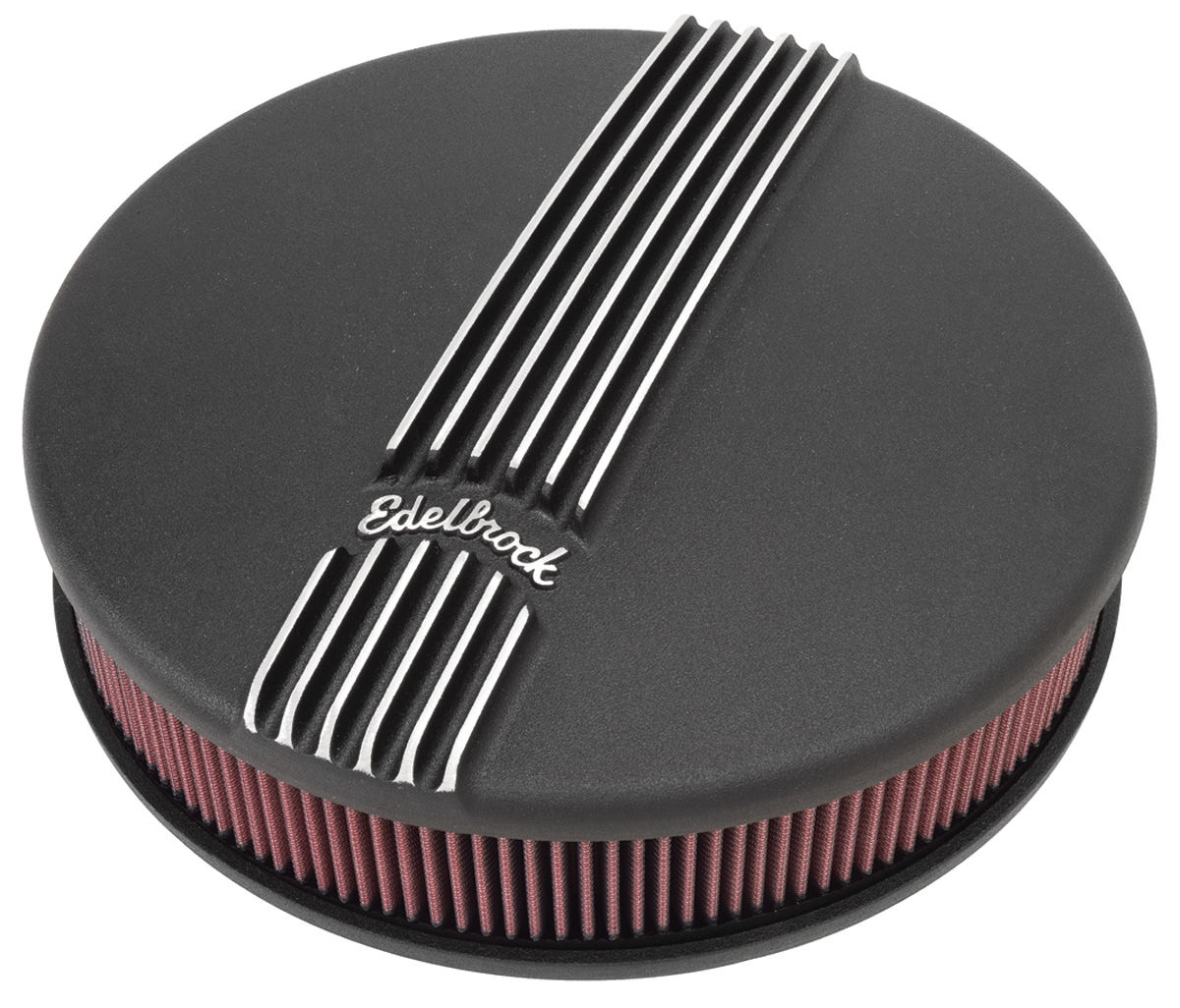 Air Cleaner, Edelbrock, Round, Classic Series, 4BBL, Black