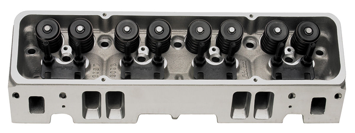 Cylinder Heads, Edelbrock, E-Tec, 170CC, SB Chevy, Aluminum