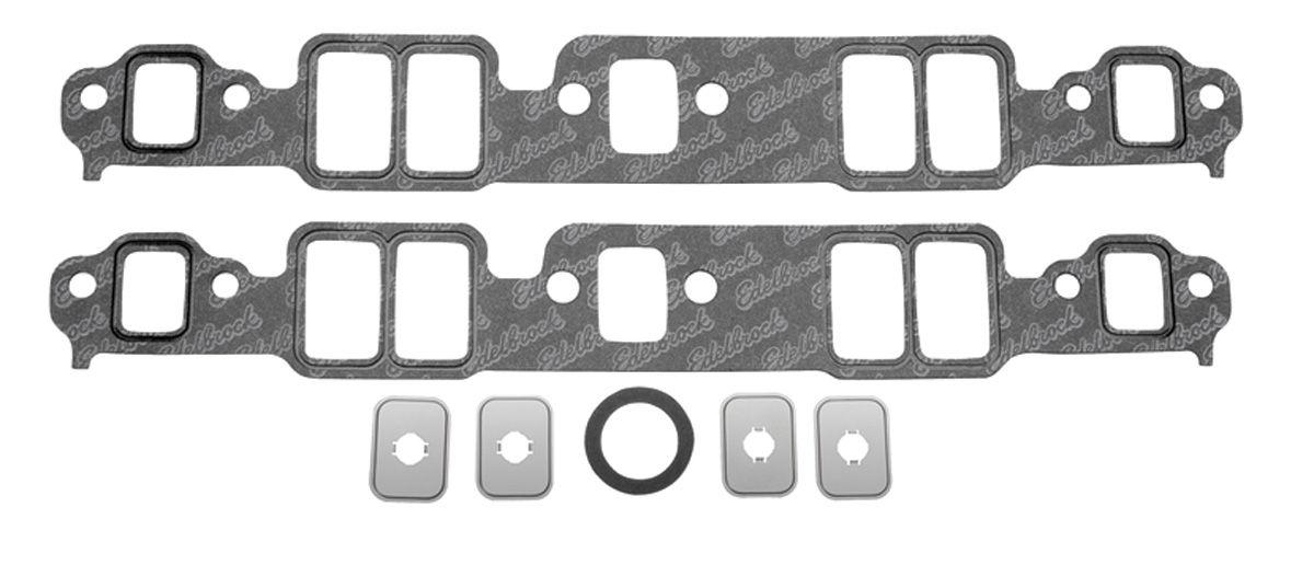 Gasket Set, Intake Manifold, Edelbrock, 55-86 SB Chevy