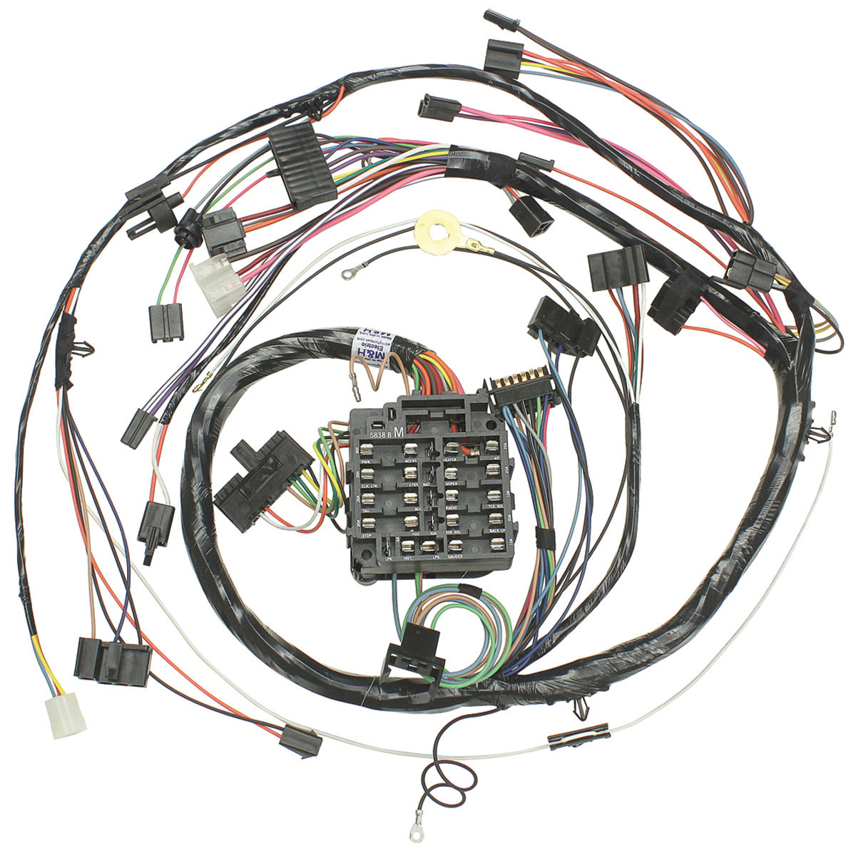[DIAGRAM_5NL]  Wiring Harness, Dash, 1972 Chevelle/El Camino/Monte, Round SS Gauges @  OPGI.com | Fuse Box Diagram Wiring Harness 1972 |  | OPGI.com