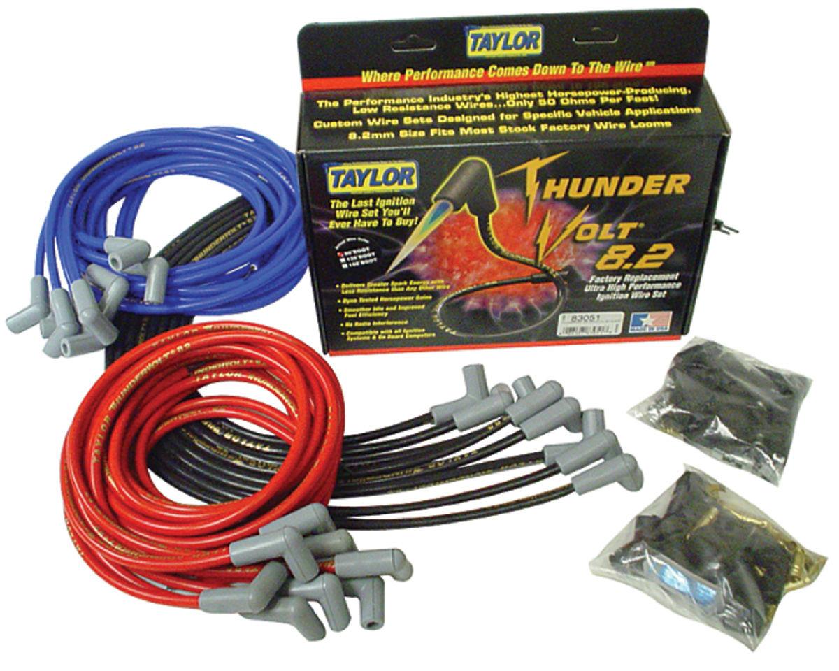 Spark Plug Wires, ThunderVolt 8.2mm, Taylor, Universal 8 Cyl., 90-Degree