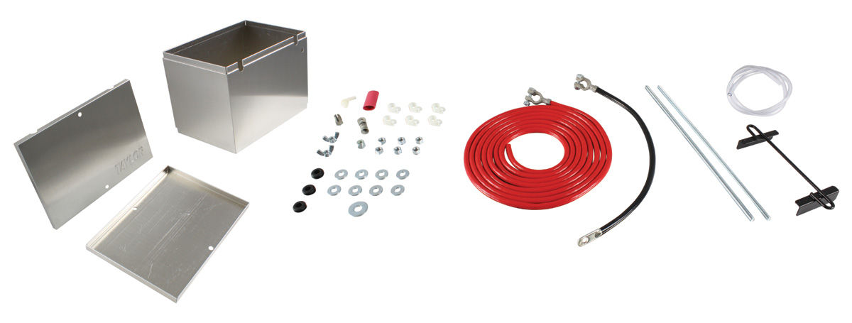 Battery Box, Aluminum, Taylor, w/ 18' Cable